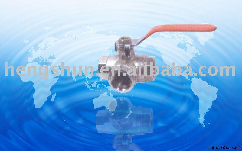 brass three way ball valve