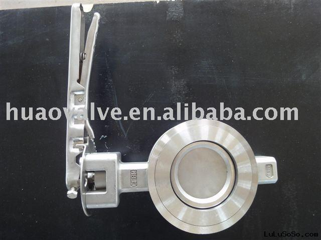 carbon steel, stainless steel manual high-performance  butterfly valve