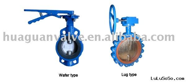 ductile iron wafer Butterfly Valves