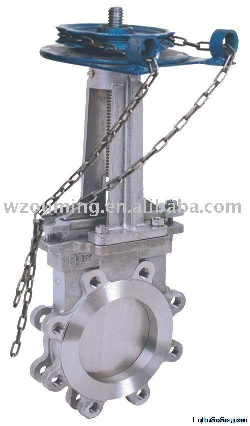 knife style flat-plate gate valve(double-disc gate valve,cast steel slide valve)