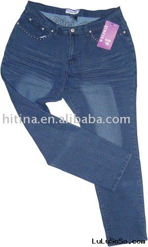 lady's  fashion plus size Jeans