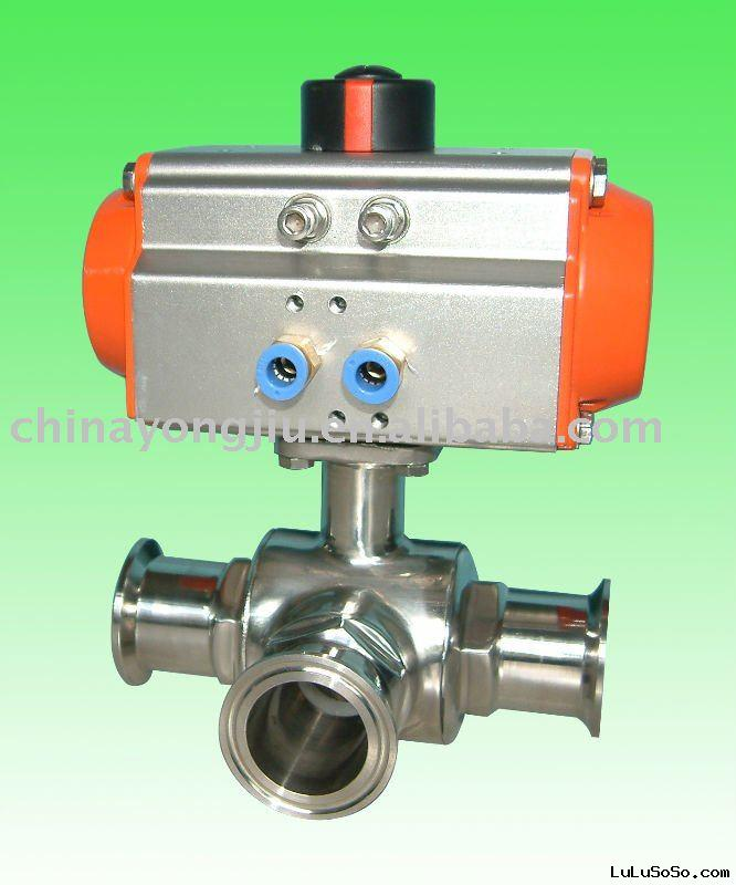 pneumatic ball valves with L & T Ball Core