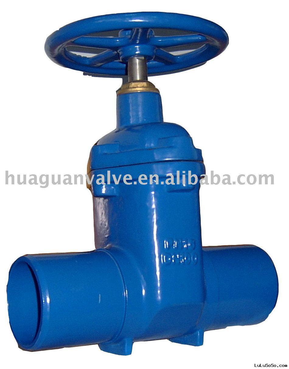 resilient seated gate valve NRS socket ends with handwheel