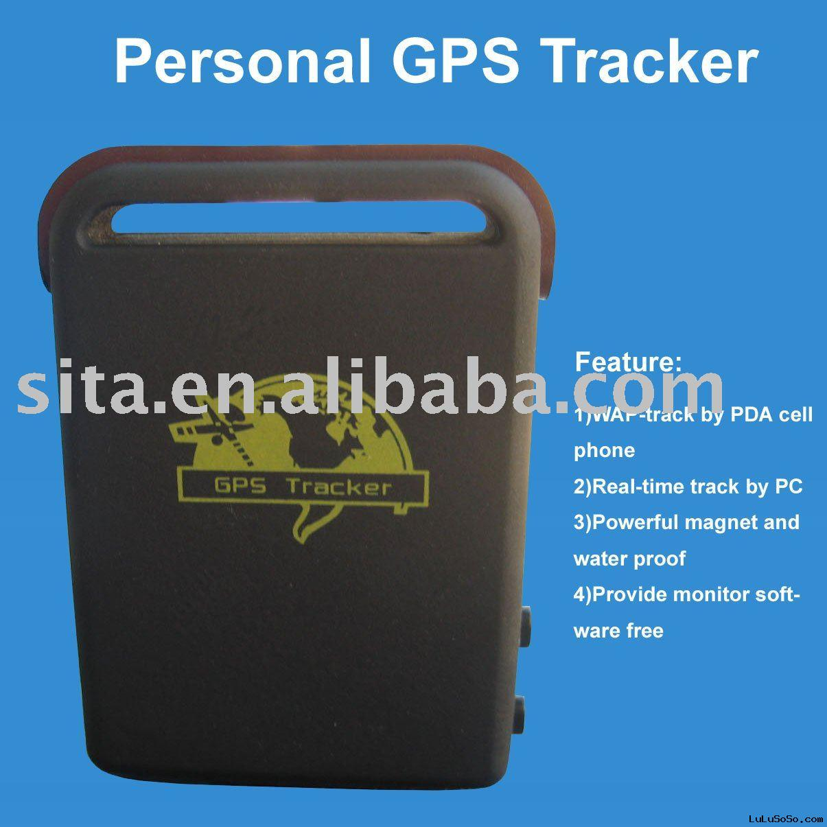 GPS tracker WAP-track by PDA cell phone./real-time track by PC