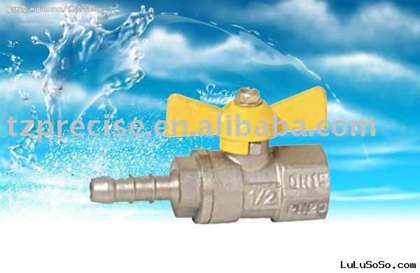Nickel finished Brass Gas Ball Valve