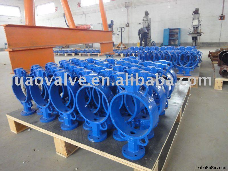 grey iron or ductile iron wafer industrial butterfly valve