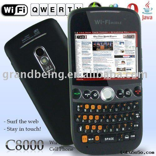C8000 mobile phone,Touch Screen + QWERTY,Track Ball,wifi+TV,Flash Light