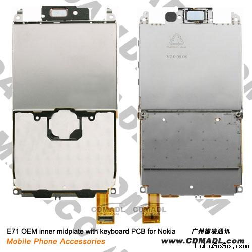 E71 OEM inner mid plate with keyboard PCB for Nokia