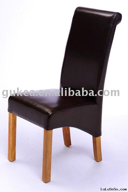 GK604A Oak wood leather dining chair