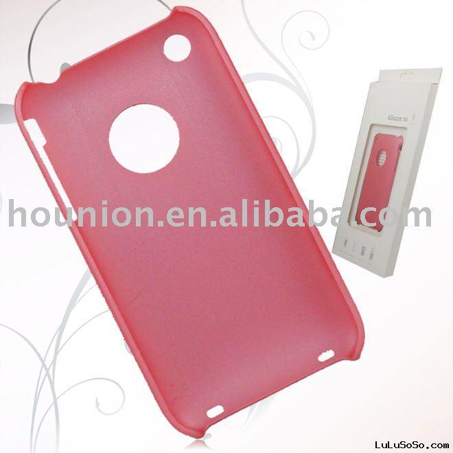 Pink plastic case for iPhone 3g mobile phone