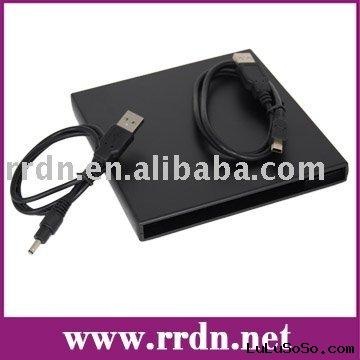 9.5mm USB 2.0 optical drive Case with IDE PATA interface with black color (Kits, Caddy)