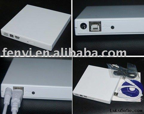 Laptop CD/DVD-Rom To USB 2.0 External Outdoor Slim Case White