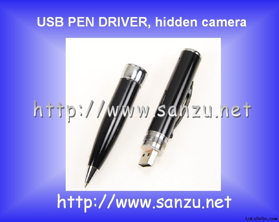 USB Digital camera pen driver, MINI DVR (digital video recorder) CAMERA, hidden camera pen drive