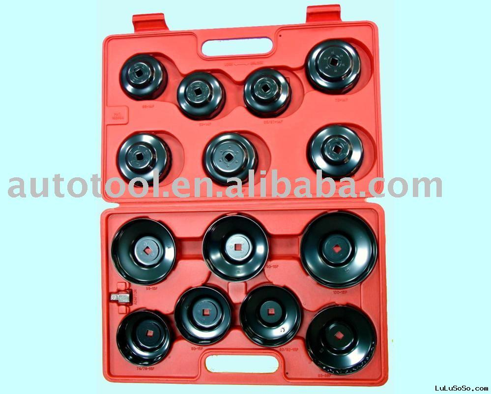 15pc Cup Type Oil Filter Wrench (Metal)