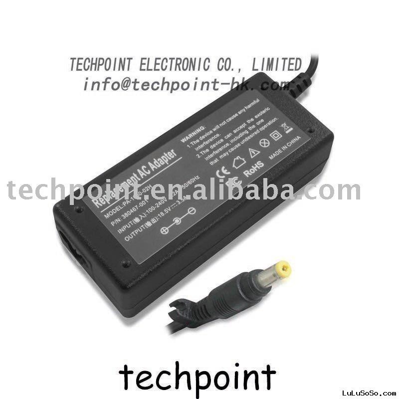 Power adapter for HP 18.5V 3.5A PPP009H 239427-003  7.4mm x 5.0mm central pin