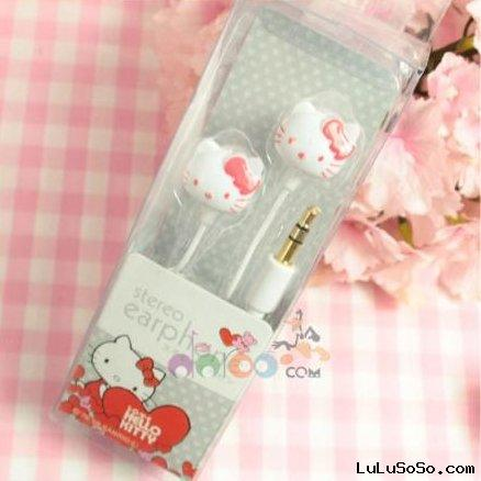 Hello Kitty Mp3/4 PC Headphone Earphone Earbud