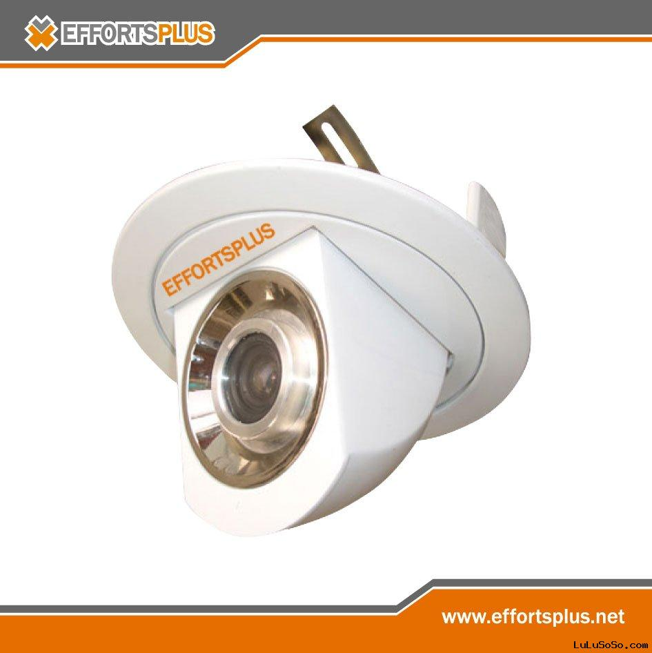 Spotlight Type Ceiling Mount Hidden CCTV Security Camera (CM5014 Series)
