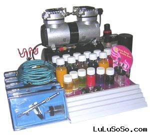 Temporary airbrush tattoo kit