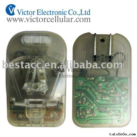 Transparent universal charger for rechargeable li-ion mobile battery below 2000mah.