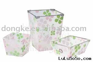 stackable plastic waste bin