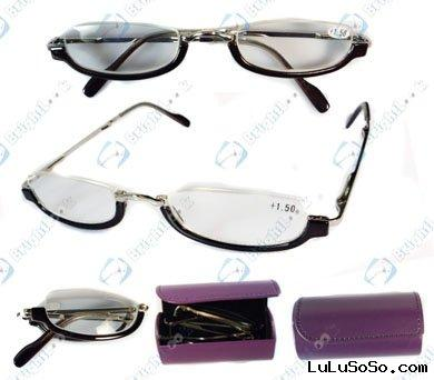 2011 new fashion folding reading glasses,metal&plastic combination
