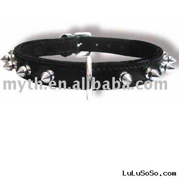Leather dog collar& leashes(LC0055 )