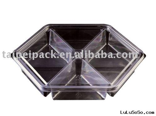 Clear Cookie Box / Plastic Food Container (40oz Candy)