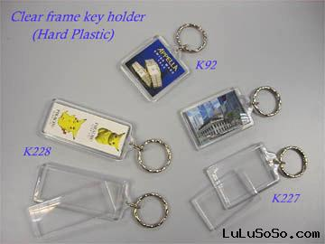 Clear Plastic Photo Frame Key Holder
