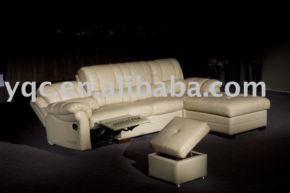7153#recliner leather sofa