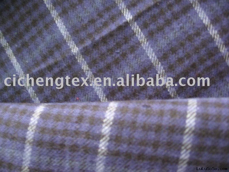 Brushed cotton flannel fabric