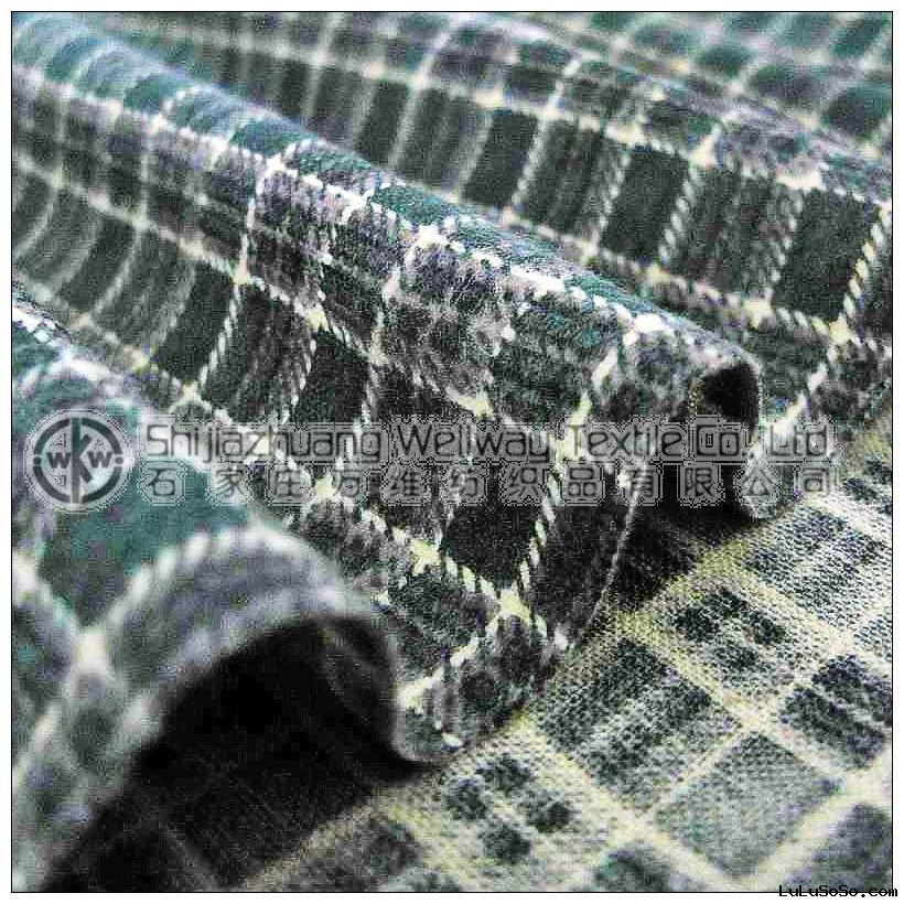Cotton plaid flannel fabric