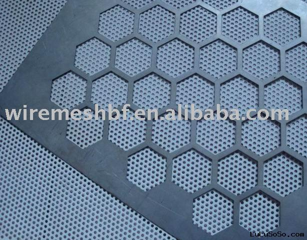 Hex Holes Perforated Metal