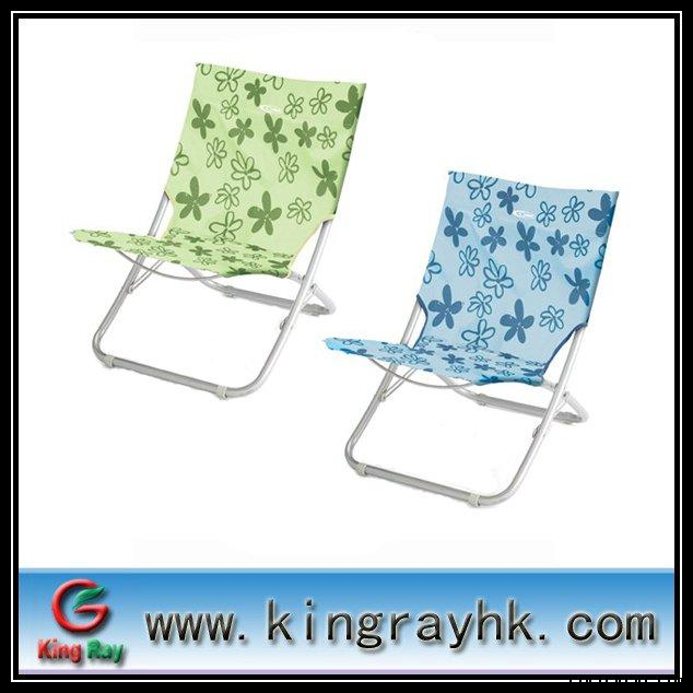 Printed fabric recline chair