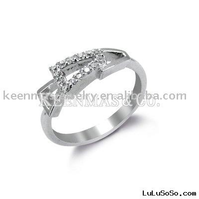 Silver jewelry, CZ Ring