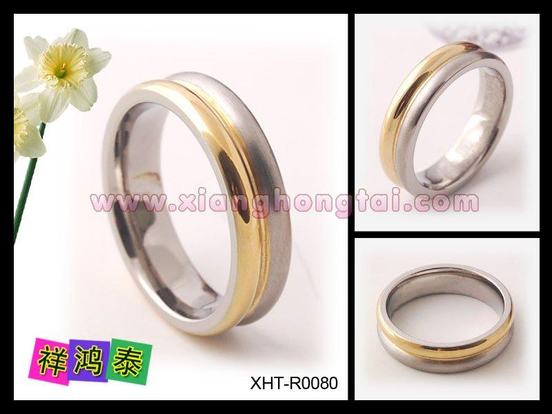 Two tones plating  titanium magnetic ring  wedding for men  fashion jewelry