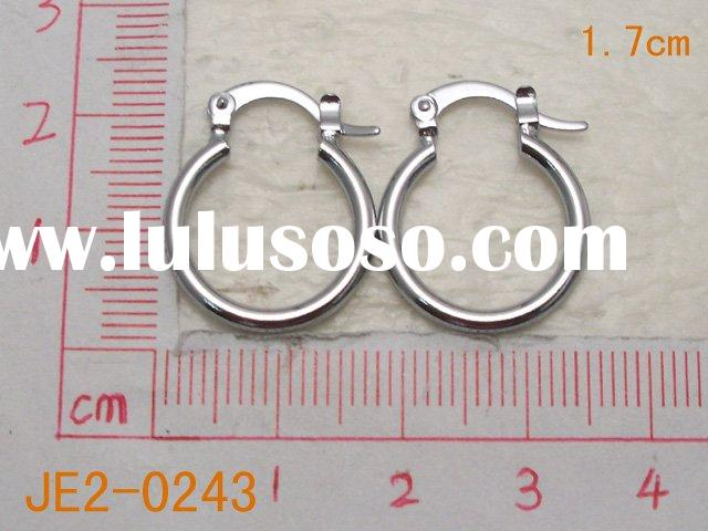 Wholesale White Gold Plating Hoop Earring Jewelry