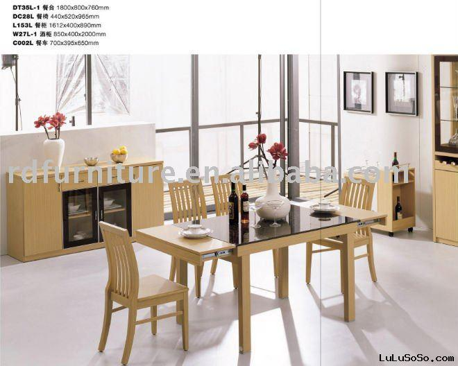 #DS1105 dining room furniture set in yellow oak