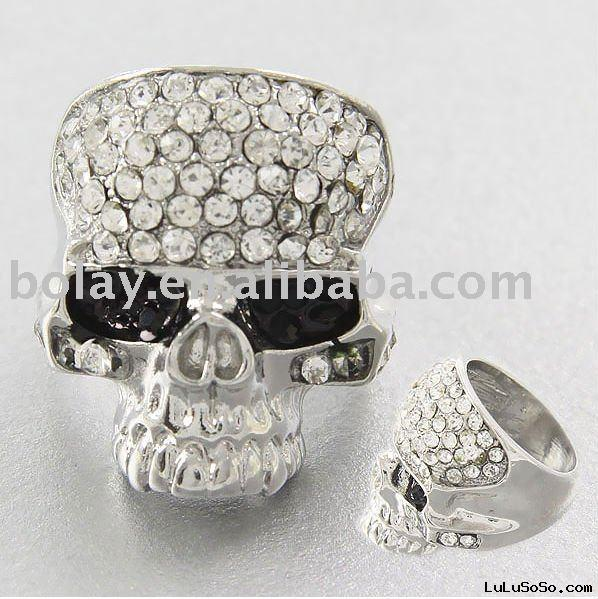 diamond skull wedding ring