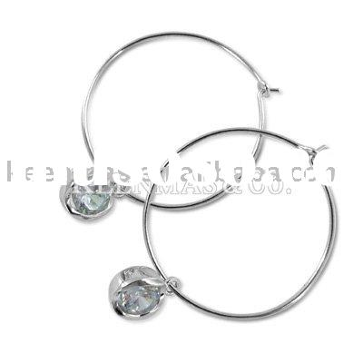 earrings silver hoop