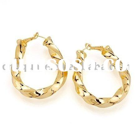 gold ear hoop earring