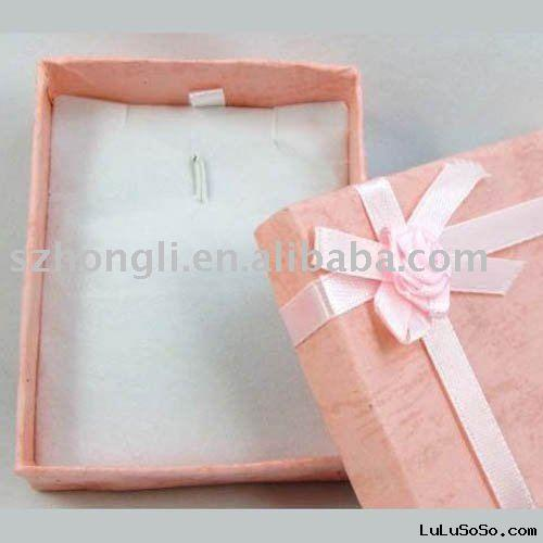 pink paperboard gift box