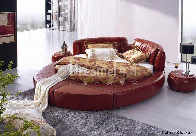 round water bed mattress with floating system