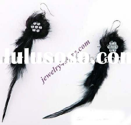 2011 fashion feather earringF004