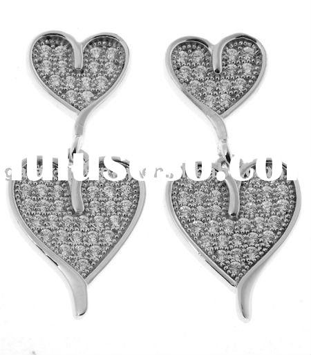 2011 fashion micro pave setting earring jewelry with CZ