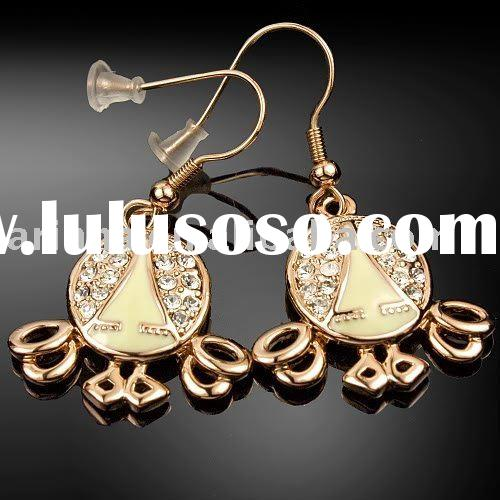 EH240   Viennois Rose Gold GP UNIQUE DESIGN earring stud  paypal/ fashion/ jewelry/ dangle/ stud