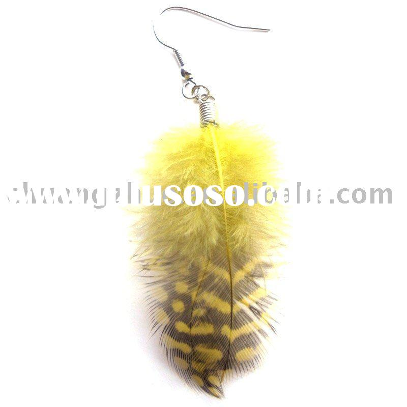 Fashion Silver Feather Earrings