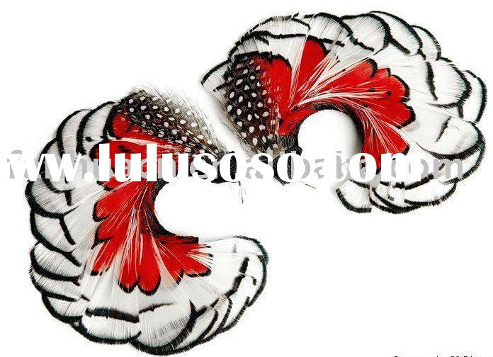 Luxury feather earring