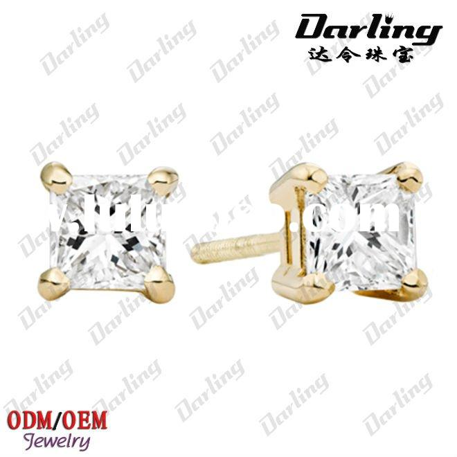 Women's diamond earrings