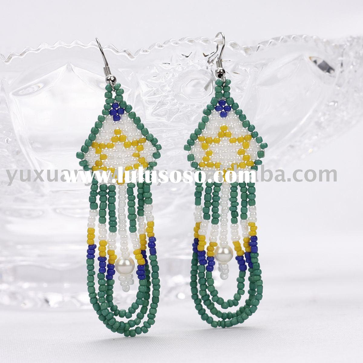 Beaded Open Filigree Earring For Sale Price China