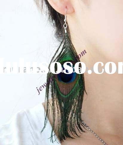 fashion feather earringF003